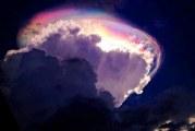 بالفيديو – غيوم مذهلة تظهر مضيئة وملونة في سماء كوستاريكا
