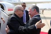 ملك الأردن يسلم السبسي المفتاح الذهبي للعاصمة عمان