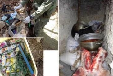 بالصور: العثور على مخبأ للإرهابيين بجبل سمامة
