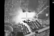 شاهد فيديو الغارة الجوية الأمريكية على صبراتة الليبية