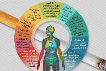 إنفوغرافيك.. هذا ما سيحدث لجسمك بعد التوقف عن التدخين