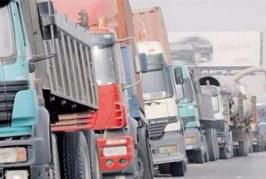 رسمي: تعريفات جديدة لنقل البضائع عبر الطرقات