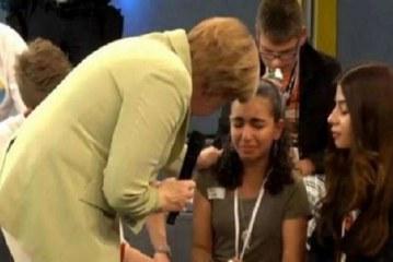 بعد أن أبكتها ميركل..منح الإقامة الدائمة في ألمانيا لفتاة فلسطينية