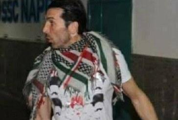 """القضية الفلسطينية..الحارس الدولي الإيطالي """"بوفون"""" مهدد بالإيقاف من الفيفا"""