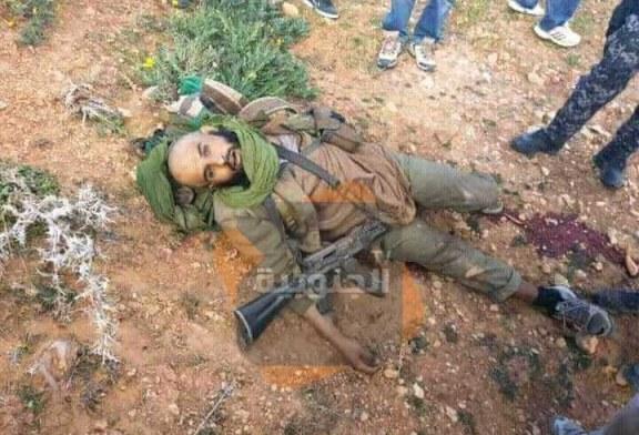 الإرهابي الثاني الذي تم العثور عليه صباح اليوم بعد أن تم القضاء عليه ليلة البارحة في عملية نوعية بجبال القصرين
