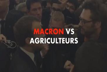 """خلال مشادة كلامية….فلاّح للرئيس الفرنسي: """"تكلمّ معي بأدب"""" (فيديو)"""