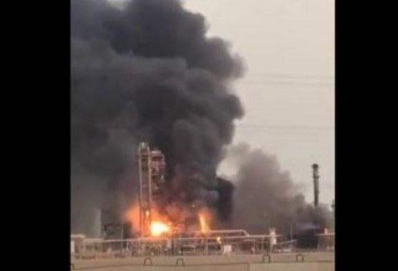 السعودية: حريق هائل يخلف قتيل ومصابين (فيديو)