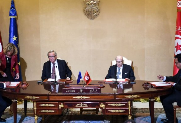 التوقيع على أربع إتفاقيات تمويل بقيمة 270 مليون أورو بين تونس والإتحاد الأوروبي