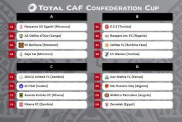 كاس الاتحاد الافريقي لكرة القدم : النجم الساحلي والنادي الصفاقسي في نفس المجموعة