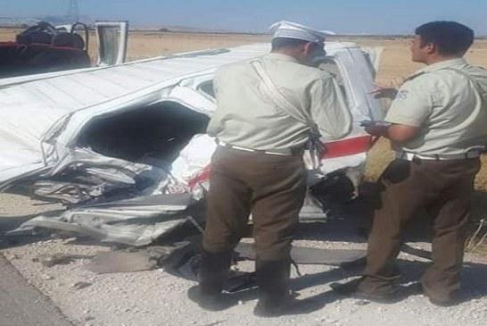 الكاف: قتلى وجرحى في حادث مرور مريع