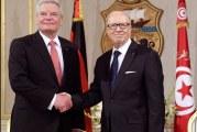 رئيس ألمانيا السابق يحضر مراسم تأبين الباجي قائد السبسي