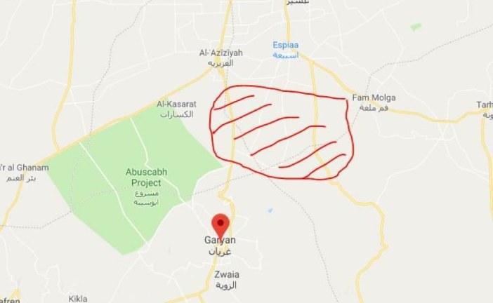 Manœuvre aéroterrestre réussie pour l'ANL qui vient de s'emparer de l'ensemble de la région comprise entre Aziziya et Gharian.