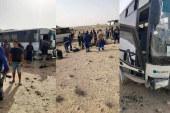 المتلوي: حادث انقلاب حافلة تقلّ 14 عاملا بشركة فسفاط قفصة