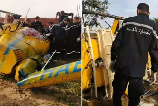 سُكرة: سقوط طائرة خاصة بمداواة الحشرات