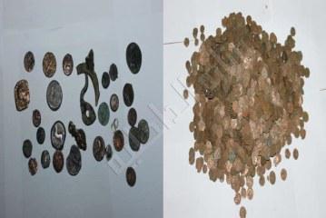 بجهتي تونس العاصمة وبوعرادة من ولاية سليانة :حجز 2500 قطعة نقدية أثرية