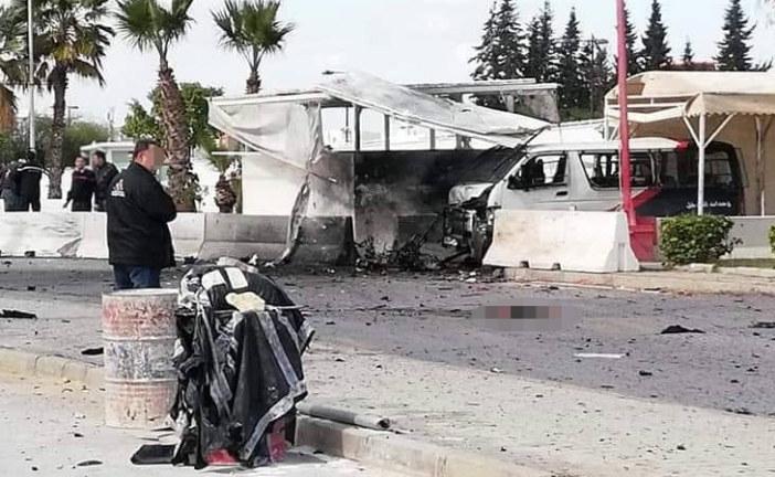 البحيرة: إرهابيان يُفجّران نفسيهما في محيط سفارة أمريكا(صور)