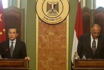 """شكري يجري مباحثات حول """"أزمة ليبيا"""" مع نظيره الصيني"""