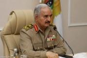 حفتر يتعهد بالتصدي للعدوان التركي وحماية ثروات ليبيا