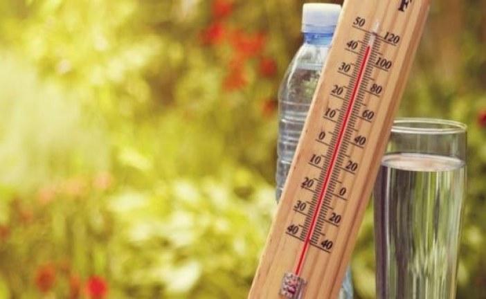 ارتفاع نسبي في درجات الحرارة