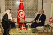 وزير الخارجية يلتقي سفير المملكة العربية السعودية بتونس