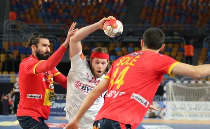 مونديال كرة اليد 2021 : الدنمارك تفوز على إسبانيا وتلتحق بالسويد للنهائي