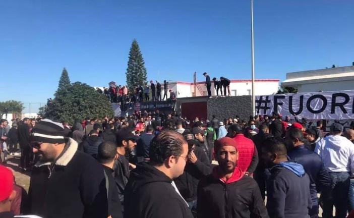 وقفة احتجاجية لجماهير النادي الأفريقي