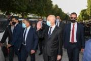 رئيس الجمهورية يؤدي زيارة الى وزارة اداخلية ويلتقي بالمواطنين في شارع الحبيب بورقيبة