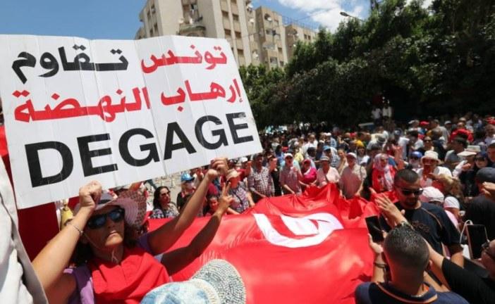 مسيرة لحزب العمال ضد منظومة الحكم وحزب النهضة