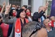 """عبير موسي:لن نُغادر مقرّ """"اتحاد القرضاوي"""" حتى غلقه والبتّ في الملف أمام القضاء"""