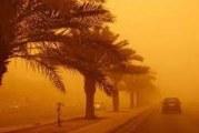 هبوب رياح رملية بالجنوب التونسي يومي السبت والاحد