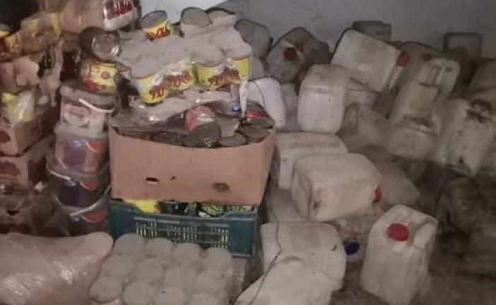 أريانة: مداهمة مخزن عشوائي بالمنيهلة وحجز كميات كبيرة من المواد الغذائية