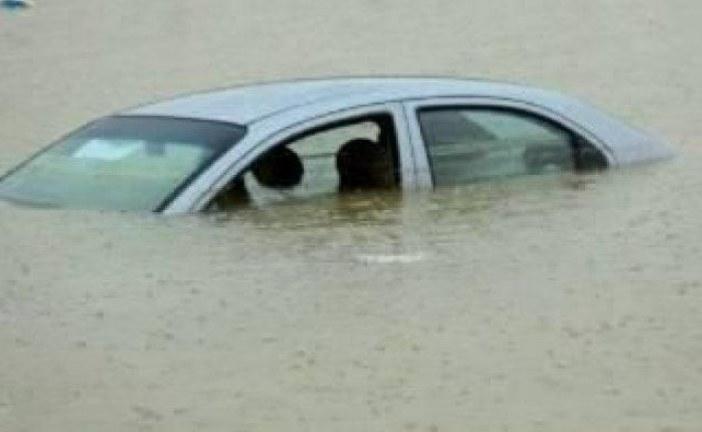 معتمدية تالة:وفاة شابين بعد أن جرفت الفيضانات سيارتهما