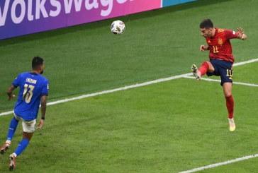 إسبانيا تنهي مسيرة إيطاليا الطويلة بدون هزيمة لتبلغ نهائي دوري الأمم
